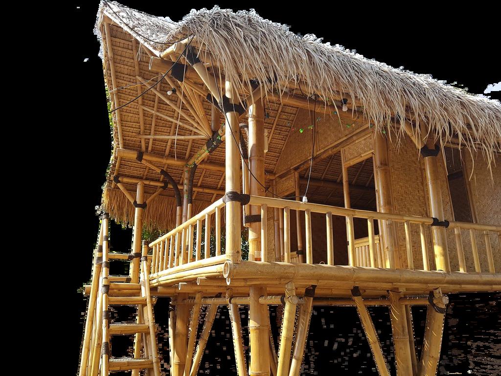 Hut bamboo hut