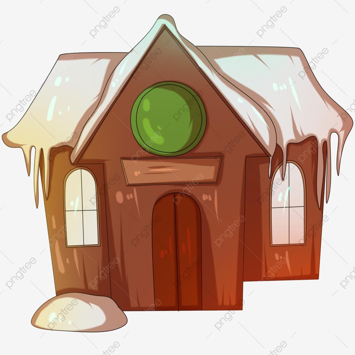 Hut clipart beautiful house. Lovely little snowy illustration