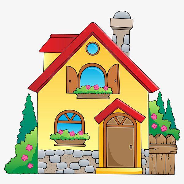 Cartoon jane pen hand. Hut clipart beautiful house