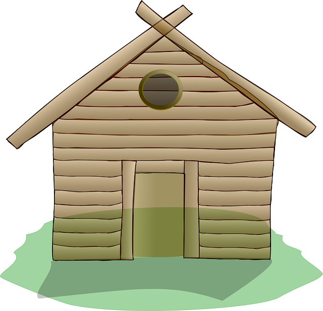 Hut clipart colonial house. Shack wooden free collection