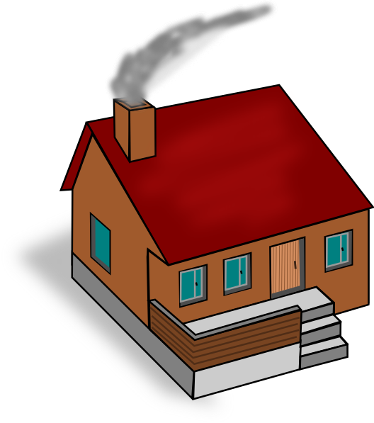 Clip art at clker. Hut clipart colonial house