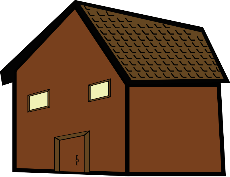 Colonial house free on. Hut clipart ghar