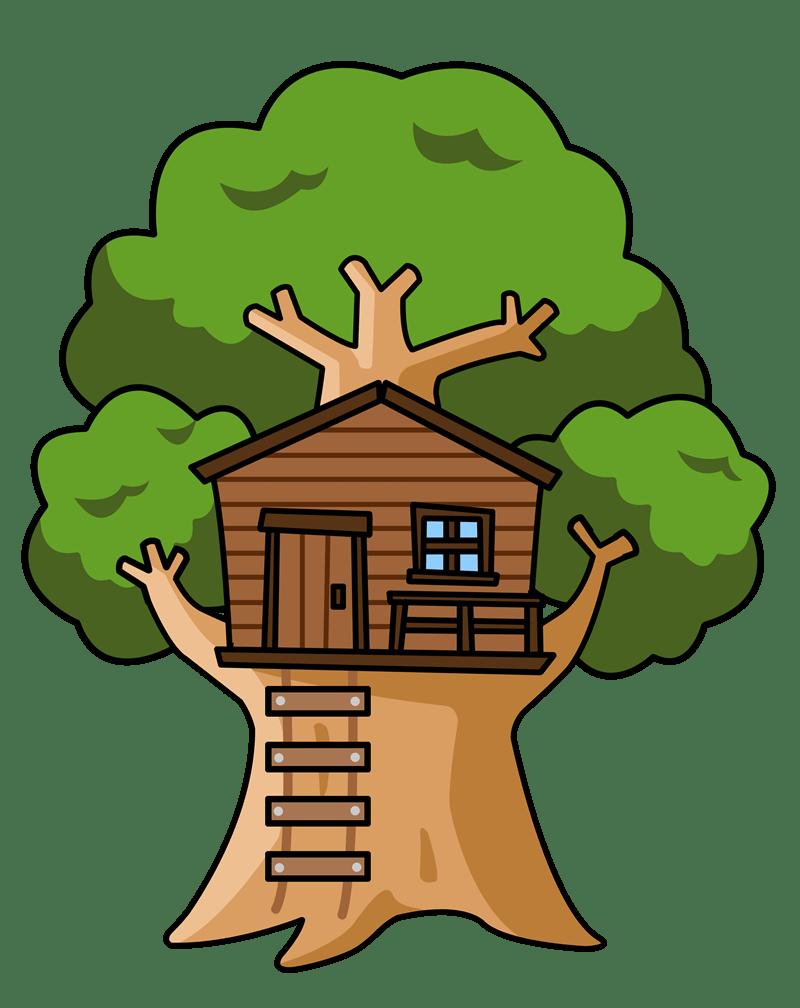 Hut clipart jungle house. Cartoon tree images reviewwalls