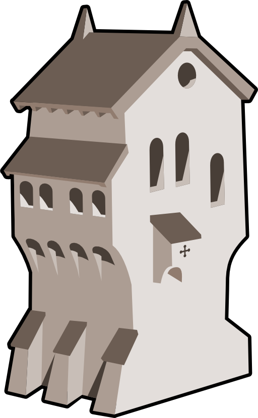 Tower clipart medieval tower. Building i royalty free