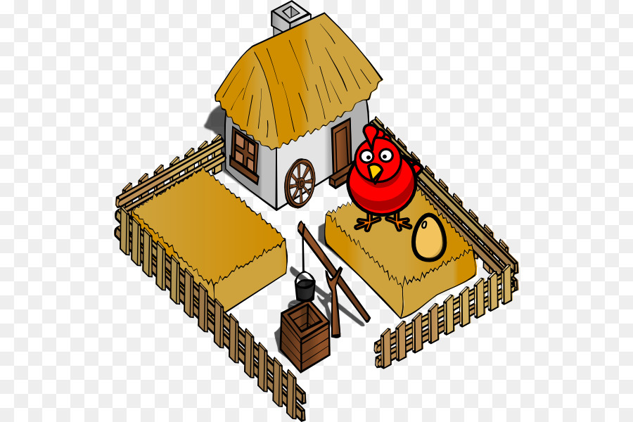Hut clipart poultry house. Chicken cartoon farm agriculture