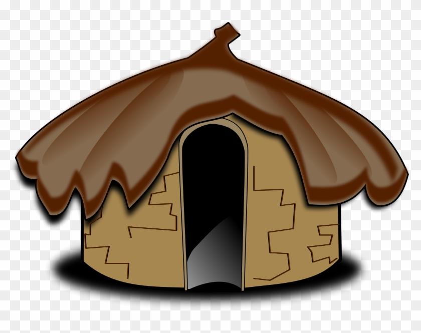 Hut clipart stone age. Oca house mud clip