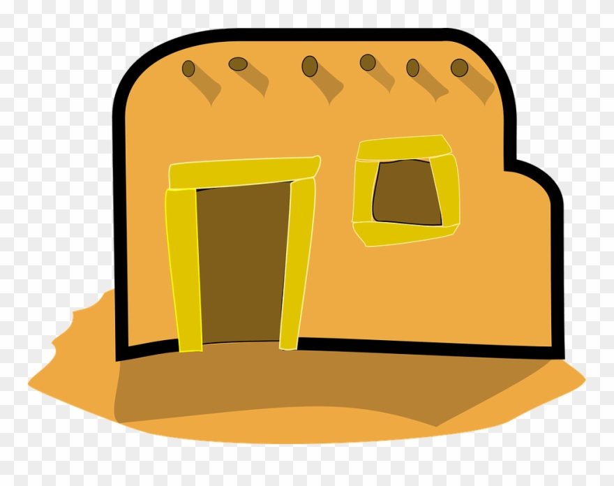 Hut clipart stone houses. Of mud png