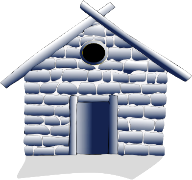 Hut clipart stone houses. And log house buildings