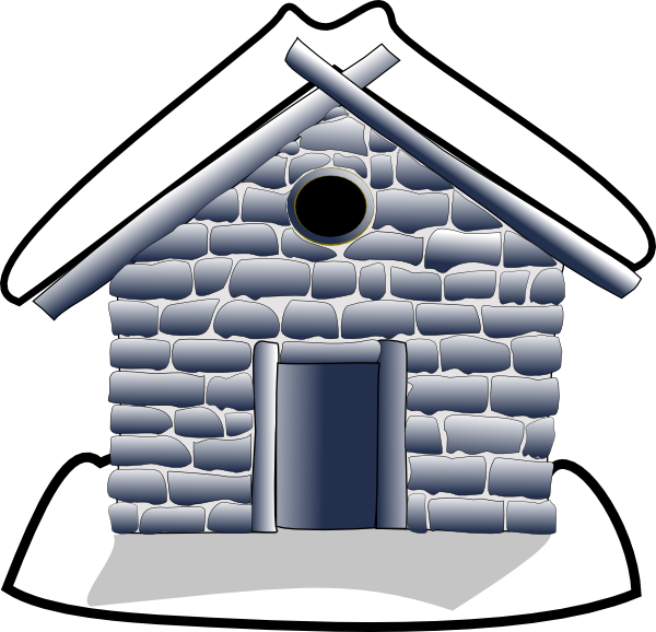 Home clip art at. Hut clipart stone houses