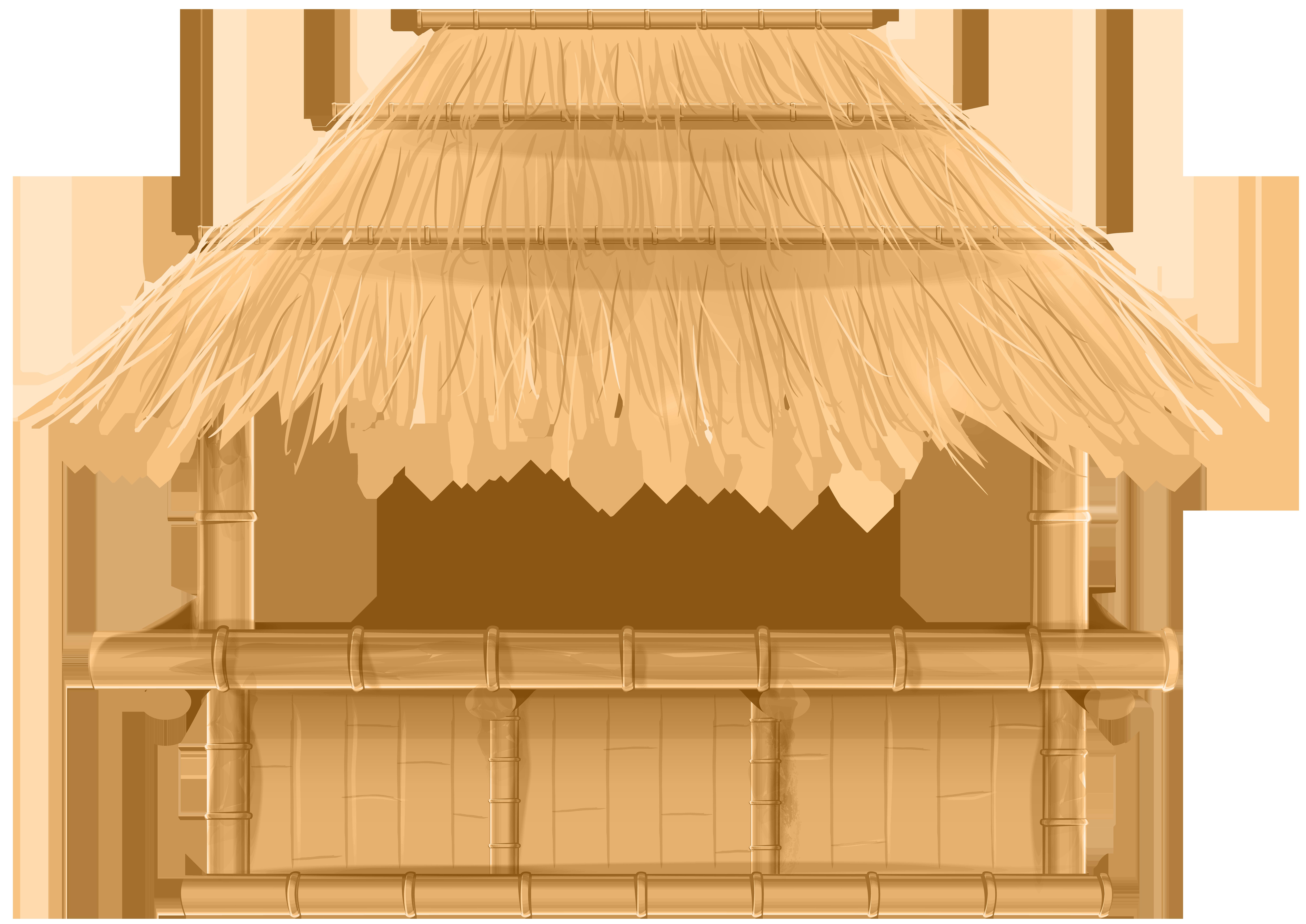 Hut clipart tiki hut. Bamboo beach bar png