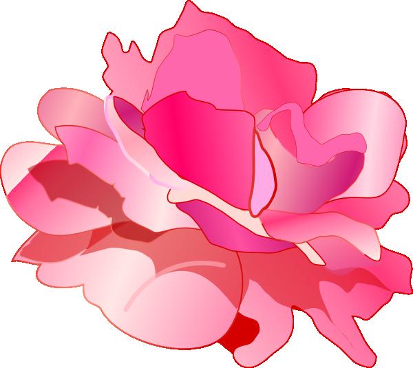 Pink clip art projects. Clipart rose tea