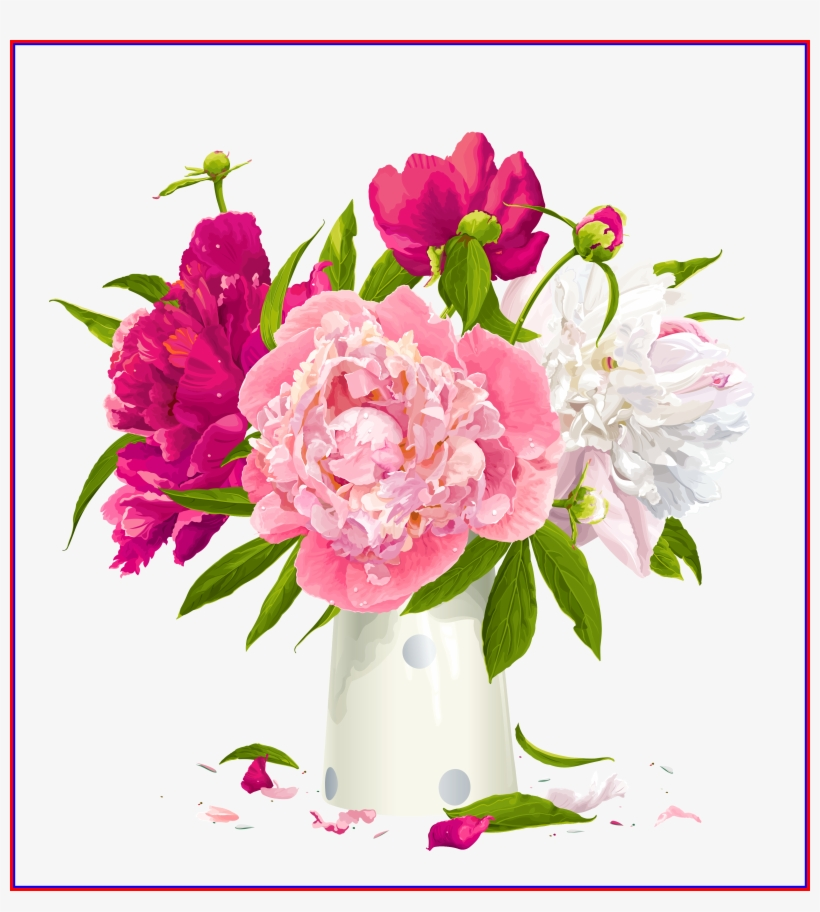 Peony flower . Hydrangea clipart high resolution