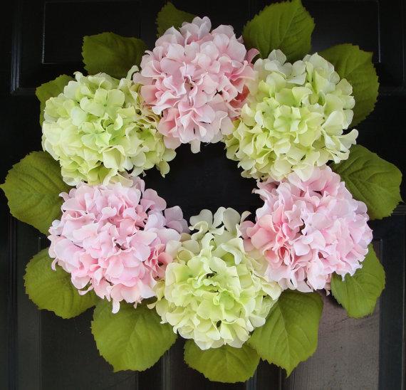 Hydrangea hydrangea wreath