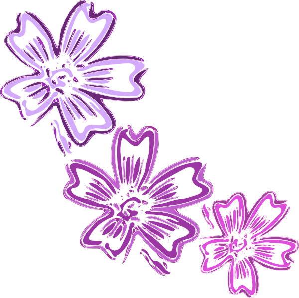 Blossoms clip art at. Hydrangea clipart vector