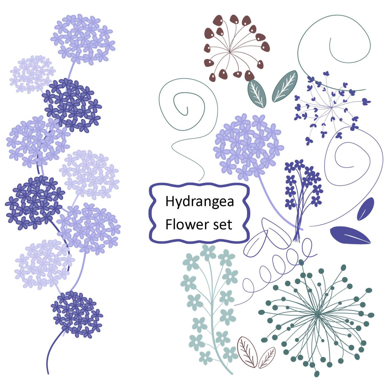 Free silhouette cliparts download. Hydrangea clipart vector