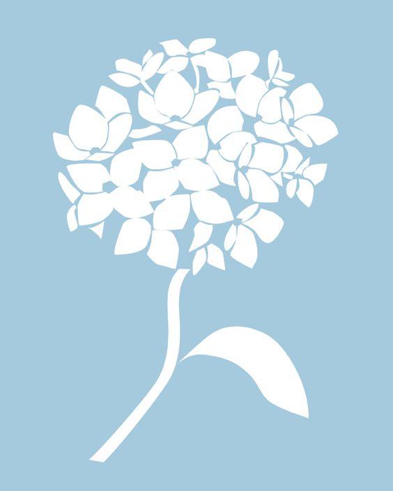 Hydrangea clipart vector. Free silhouette cliparts download