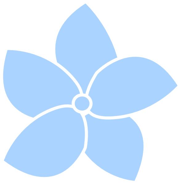 Blue clip art at. Hydrangea clipart vector
