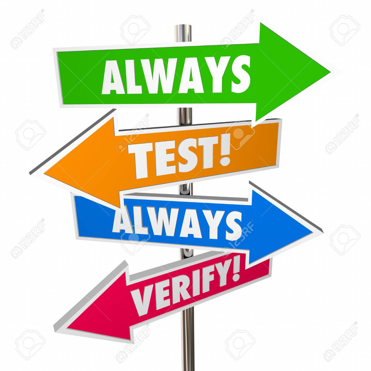 Always test verify assumptions. Hypothesis clipart