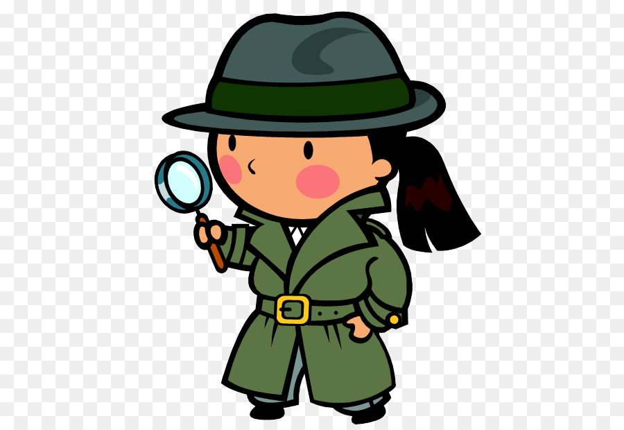 Hypothesis clipart. Detective free content magnifying