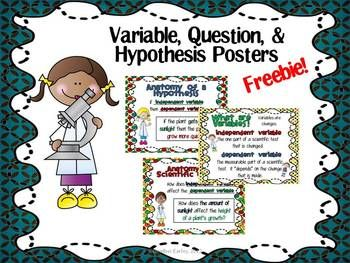 Variable and posters for. Hypothesis clipart bonus question