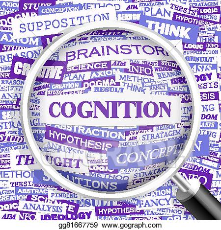 Vector art cognition drawing. Hypothesis clipart ideology