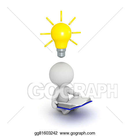 Hypothesis clipart reading. D character book and