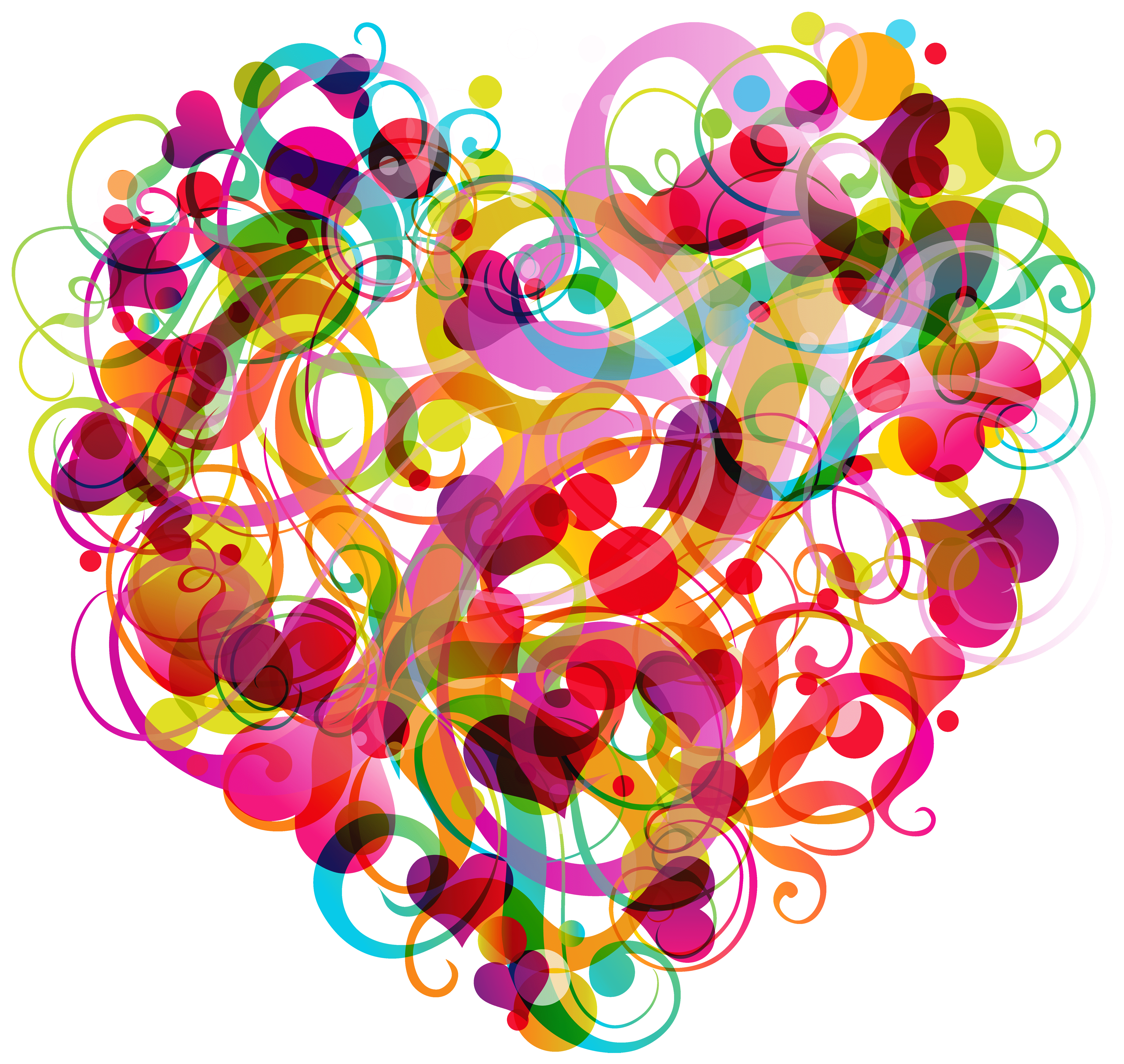 Abstract heart png . I clipart colorful