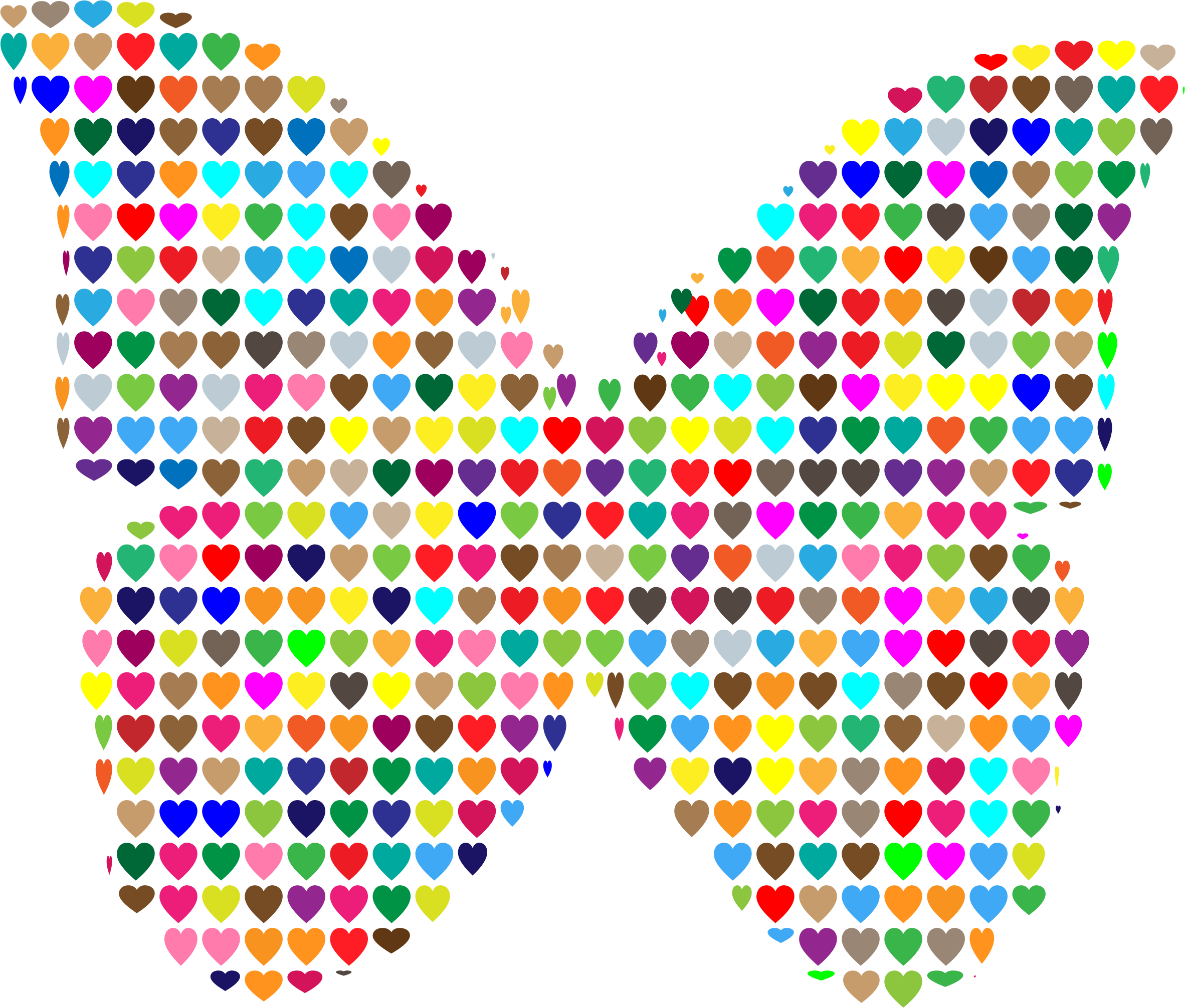 Hearts butterfly l ve. I clipart colorful