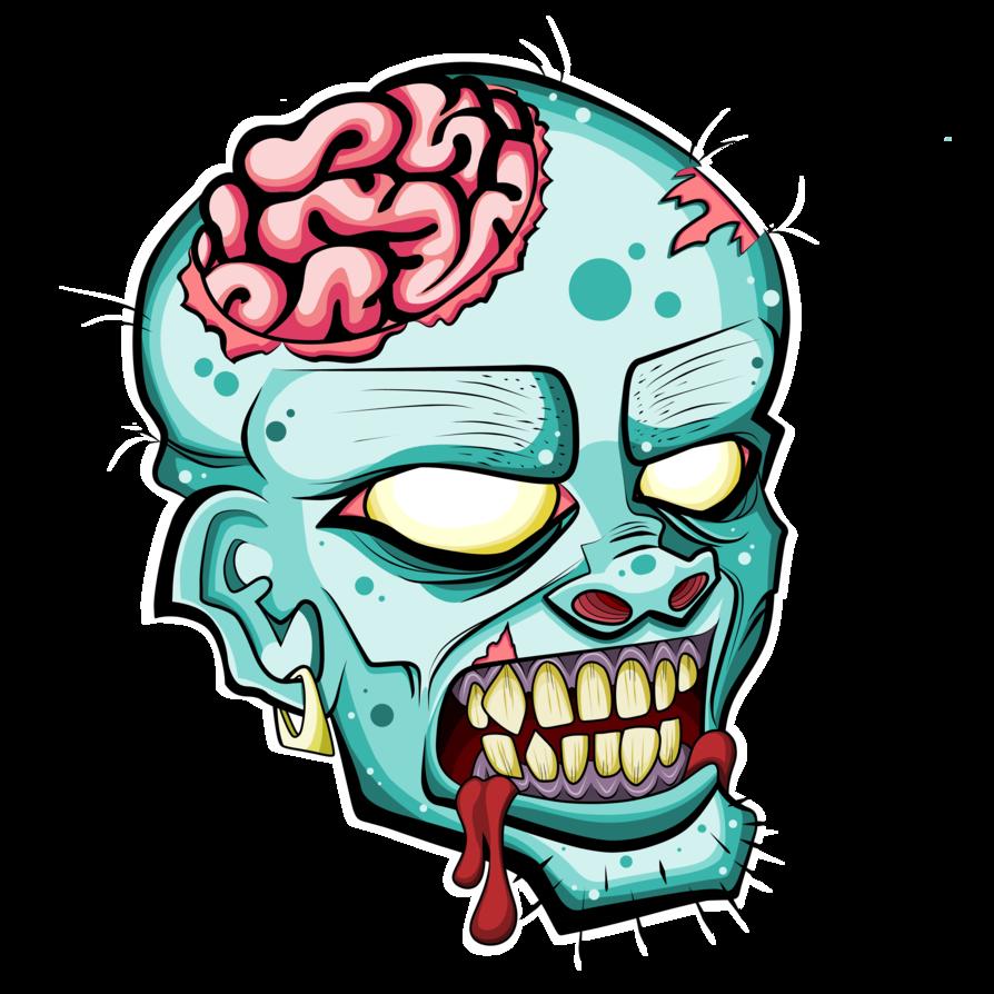 Head free please credit. Zombie clipart carton