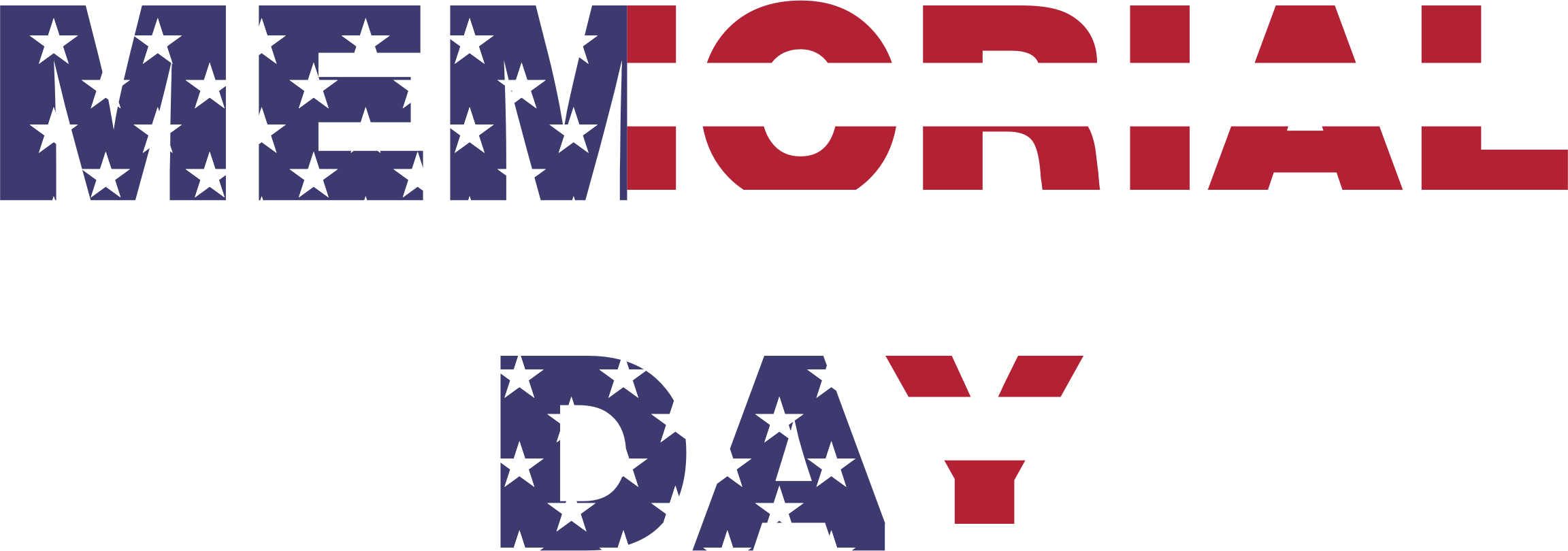 Picture clipart memorial day. Typography big image png