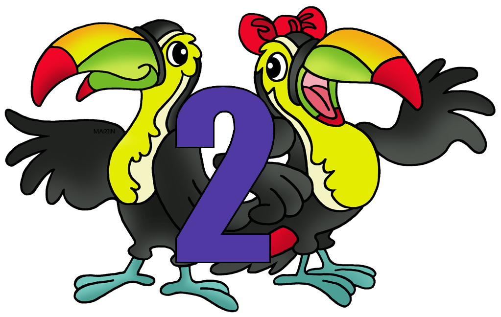 Numbers clip art by. Number 2 clipart cartoon