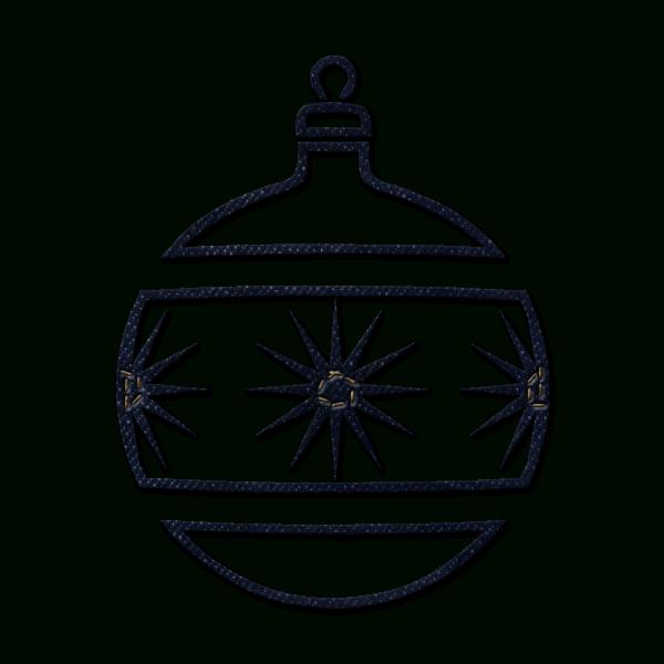 White clipart ornament. Christmas clip art black