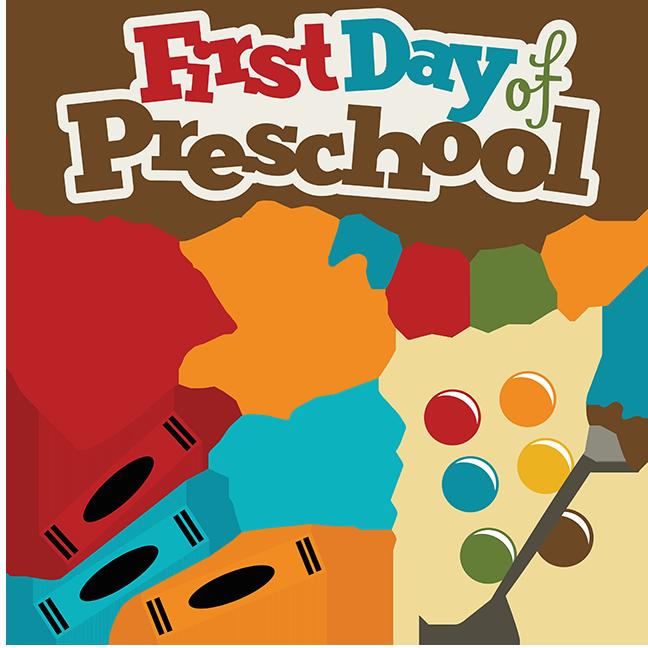 Preschool clipart scrapbook. Clip art first day