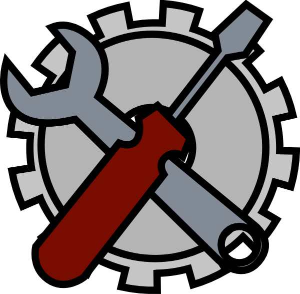 Tool clipart name. Admin tools icon clip
