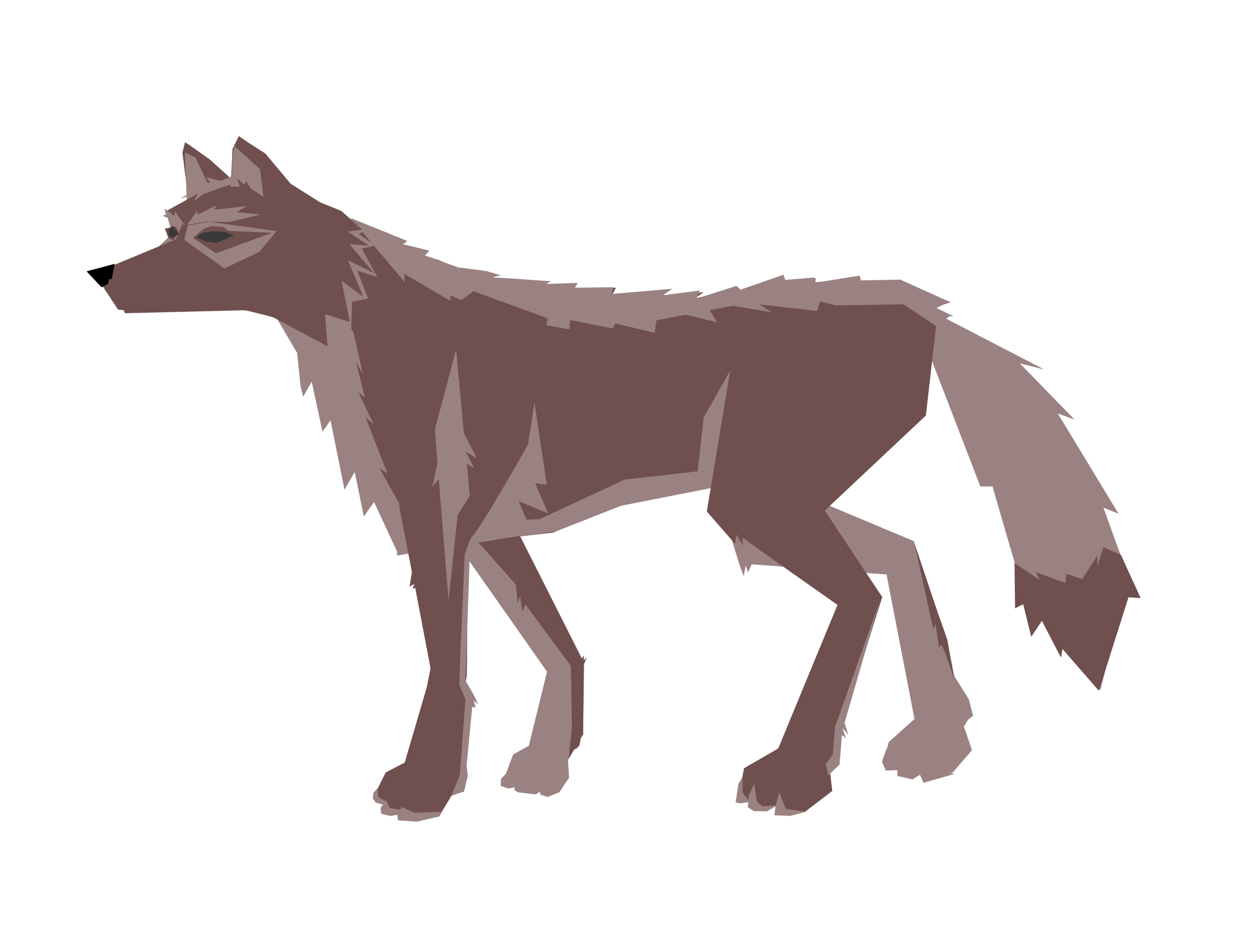 Wolf clipart pink. Brown big image png