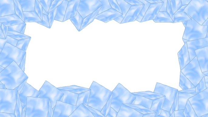 Blue full size. Ice border png