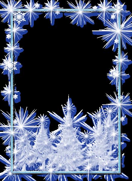 Large christmas transparent photo. Ice border png