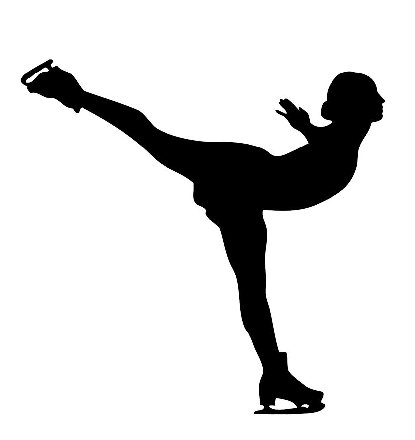 Different kinds of sports. Ice clipart black and white