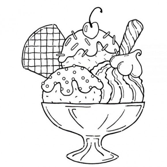Ice clipart colouring page. Cool cream coloring pages