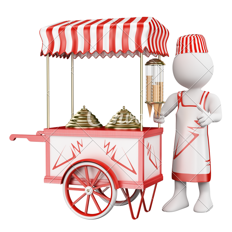 Icecream clipart cart.  d traditional ice