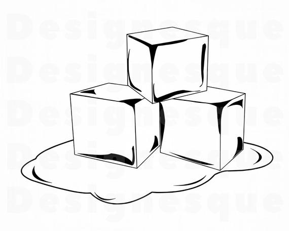 Ice clipart drawing. Melting cube at paintingvalley
