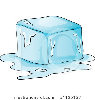 Cube melting at paintingvalley. Ice clipart drawing