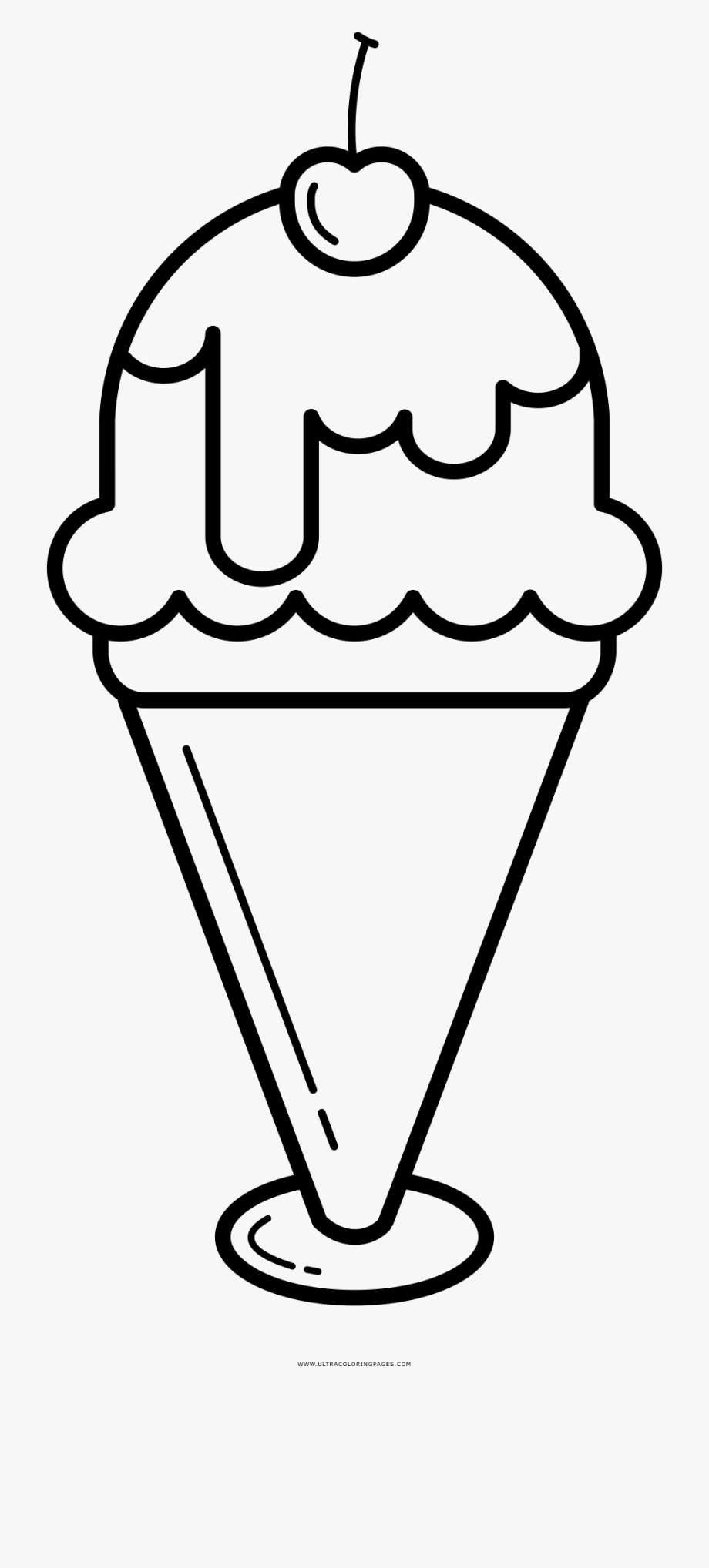 Cream sundae coloring page. Ice clipart drawing