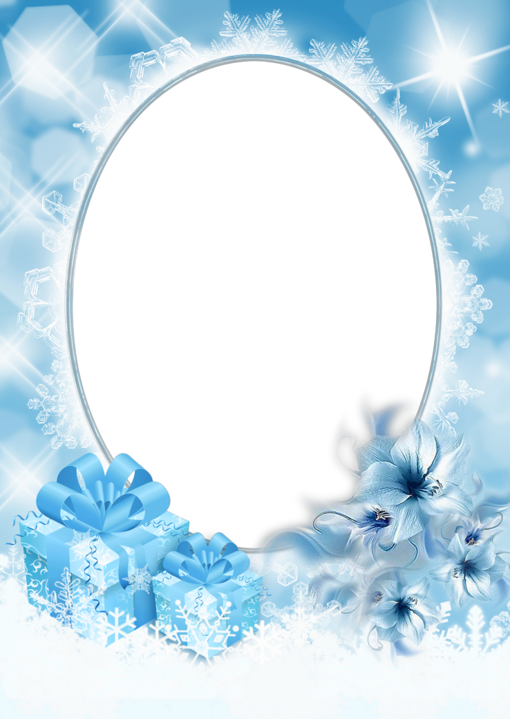 Christmas photo frame gallery. Ice border png