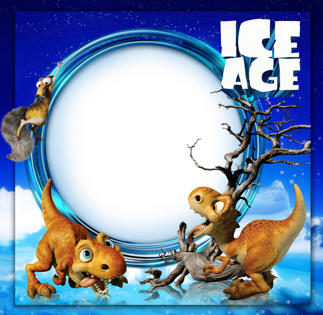 Kids photo frame gallery. Otter clipart ice age