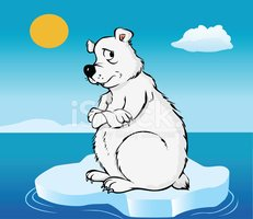 Iceberg clipart melted ice. Polar bear melting cap