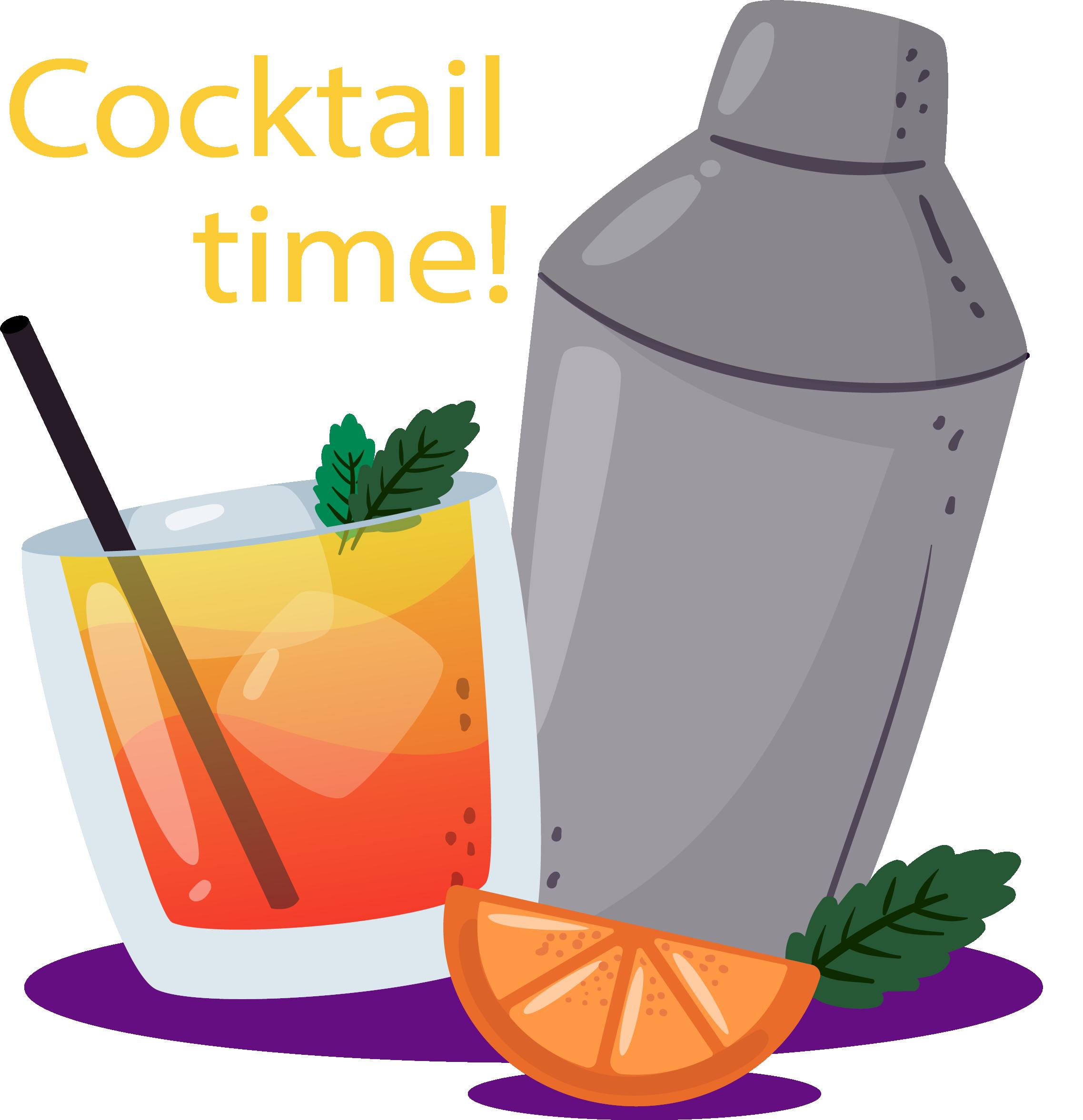 Cream orange juice cocktail. Ice clipart ice drink