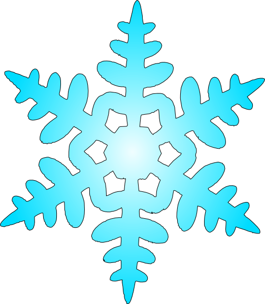 Blue snow clip art. Ice clipart ice flake