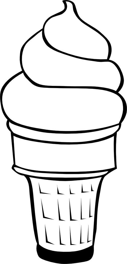 Fast food desserts cream. Ice clipart outline