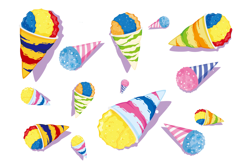 Cream clip art background. Ice clipart pattern design